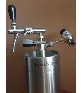 BAJONET ( S - type)  5 L Minikeg, tap with compensator, SS ready