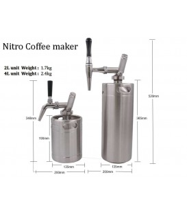 4 L MINIKEG  BLACK LINE NITRO STOUT coffee system