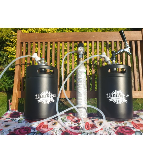 2 x 5 L minikeg systém BALL LOCK JOLLY sodagas ready