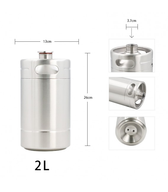 Mini keg 2 L BLACK LINE DOUBLE WALL vacuum
