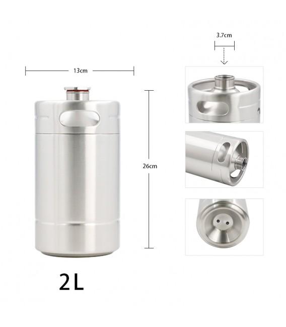Mini keg 2 L BLACK LINE DOUBLE WALL vacuum