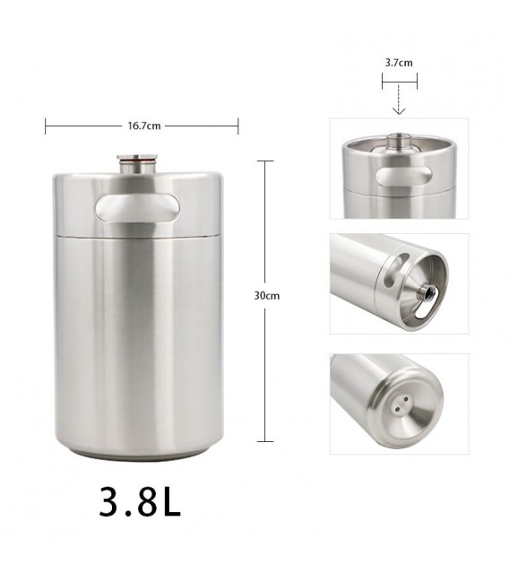 Mini keg 2 L WHITE DOUBLE WALL vacuum