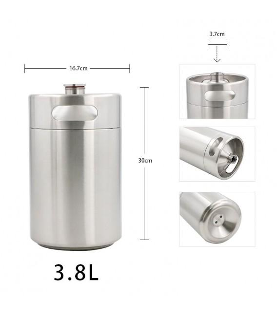 Mini keg 3,8 L DOUBLE WALL vacuum