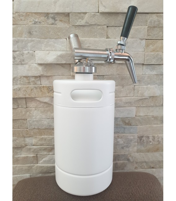 Minikeg 2L DOUBLE WALL WHITE NITRO COLD BREW  complet system