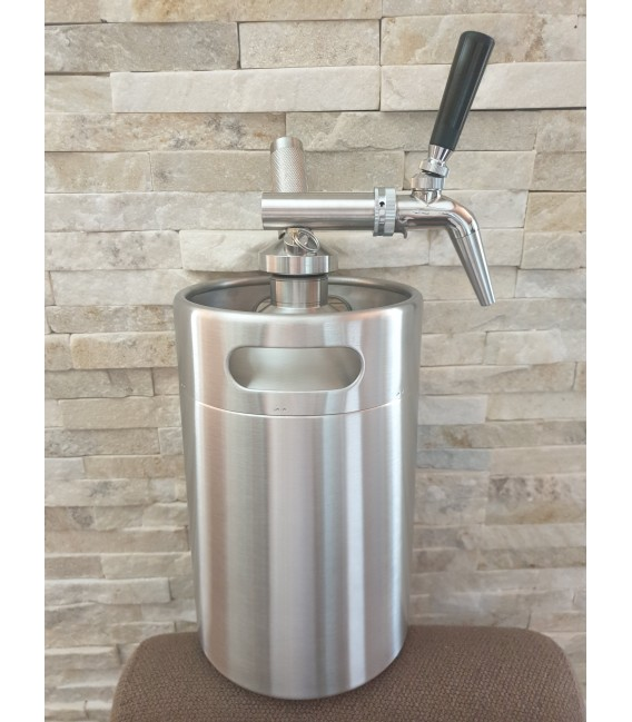 Minikeg 3,8 L DOUBLE WALL NITRO COLD BREW  complet system nerez