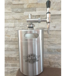 Minikeg 4 L DOUBLE WALL NITRO COLD BREW STOUT steel