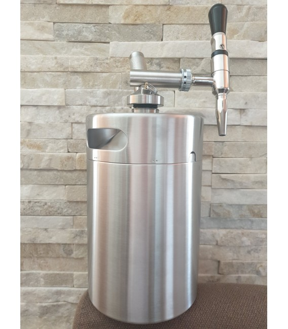 Minikeg 3,8 L DOUBLE WALL STEEL NITRO COLD BREW  complet system