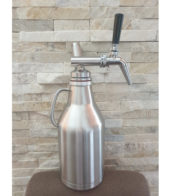 Growler 2L DOUBLE WALL STEEL NITRO COLD BREW  system