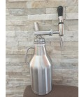Growler 2L DOUBLE WALL STEEL NITRO COLD BREW  STOUT system