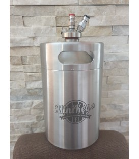 Mini keg 4 L DOUBLE WALL vacuum steel jolly head