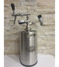5 L A type bottom minikeg SS ready with profi tap with compensator