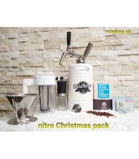 Minikeg 2L DOUBLE WALL WHITE NITRO COLD BREW coffee pack