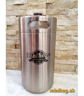 Minikeg 5 L DOUBLE WALL for beer, intertap, ss ball locks, jolly head, CO2 regulator