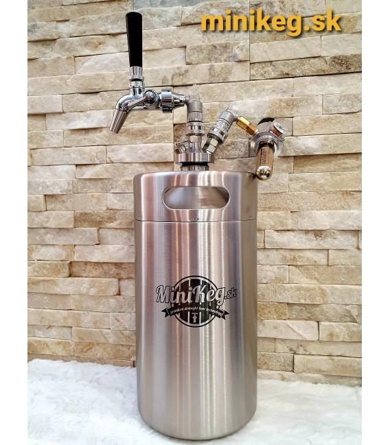 Minikeg 5 L DOUBLE WALL for beer, intertap, ss ball locks, jolly head, CO2 regulator