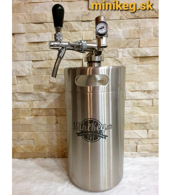 Minikeg 4 L DOUBLE WALL for beer + profi 1 + twist tube and faucet with control flow