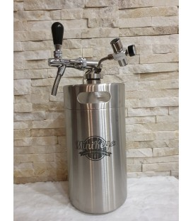 Minikeg 5 L DOUBLE WALL for beer + profi 1 + twist tube and faucet with control flow