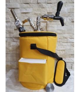 Párty taška žltá pre 5L jednostenné minikegy alebo 4L dvojstenné minikegy