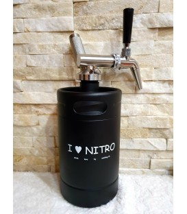 Minikeg 2L DOUBLE WALL BLACK I LOVE NITRO complet system