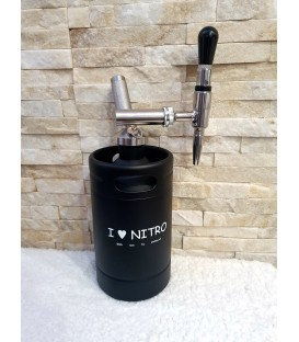 Minikeg 2L DOUBLE WALL BLACK i love nitro STOUT komplet system