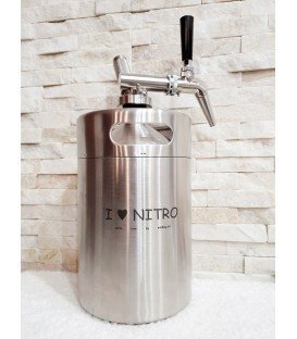 Minikeg 4L DOUBLE WALL STEEL I love nitro complet system satinless steel