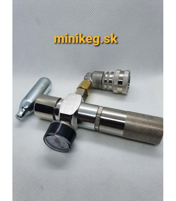 Regulátor s puzdrom a tlakomerom 0-60 psi pre 8g bezzávitové bombičky