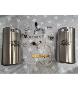 2 x 5 L minikeg double wall BALL LOCK JOLLY sodagas ready