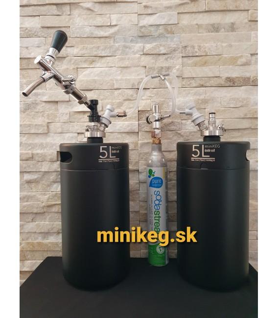 2 x 5 L minikeg double wall BALL LOCK JOLLY sodagas ready