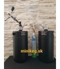 2 x 5 L Dvojstenný Gastream black s chrom pípou s kompnzátorom na jolly hlavách plastovych