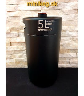Mini keg 5 L DOUBLE WALL black vacuum