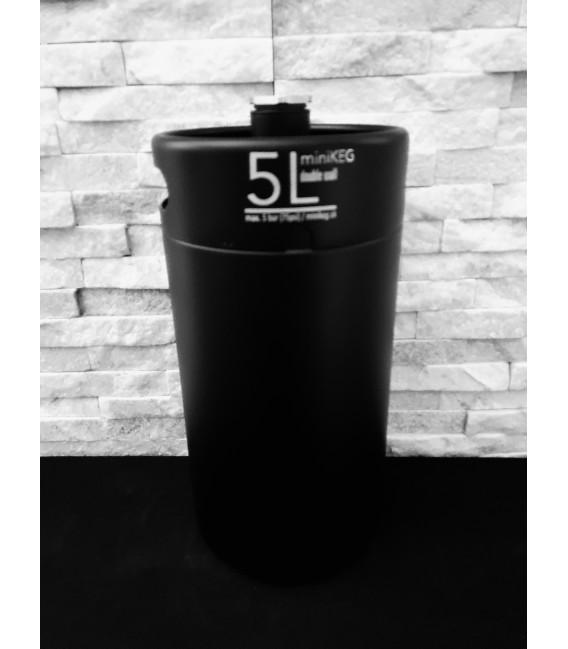 Mini keg 5 L DOUBLE WALL vacuum black