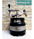 6L A type bottom minikeg SS ready with profi tap with compensator