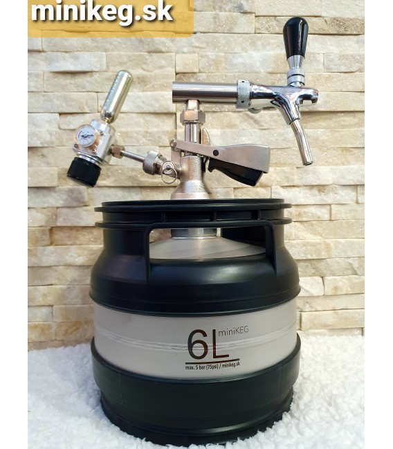 6L A type bottom minikeg with profi tap with compensator
