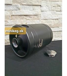 Mini keg 2 L BLACK LINE nerez s čiernym. nástrekom