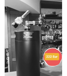 Minikeg 5 L DOUBLE WALL gasstream gold vintage for special lager beers