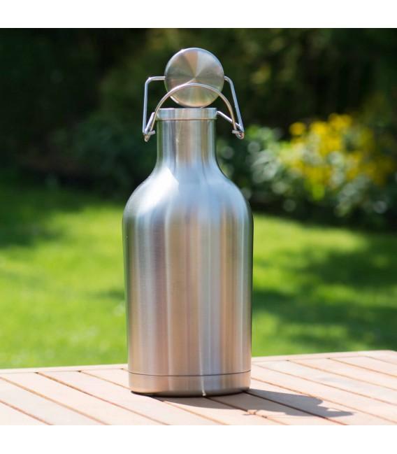 Pivný džbán z nerezovej ocele 2 L dvojstenný s rúčkou